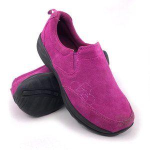 L.L. Bean Pink Leather Slip on Loafer Big Kids 5